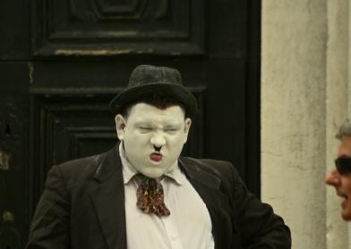 Impersonating Stan Laurel Impersonating Charlie Chaplin